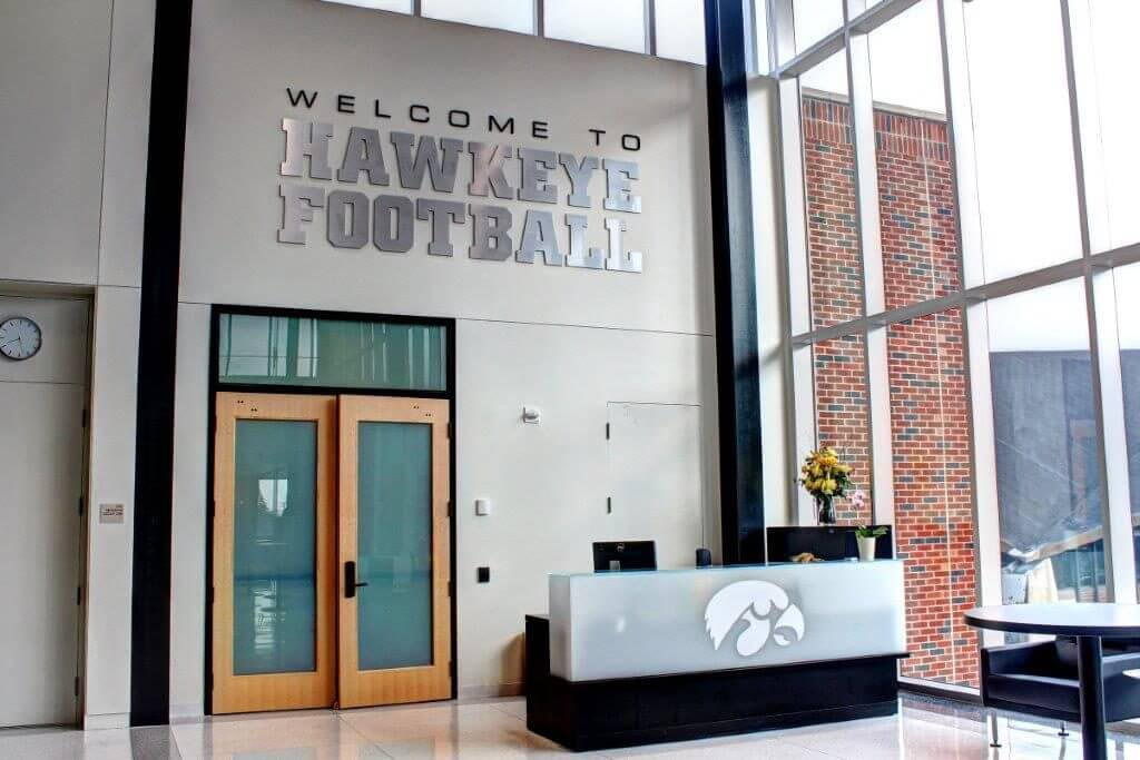 University of Iowa Football Operations Center - Reception Desk