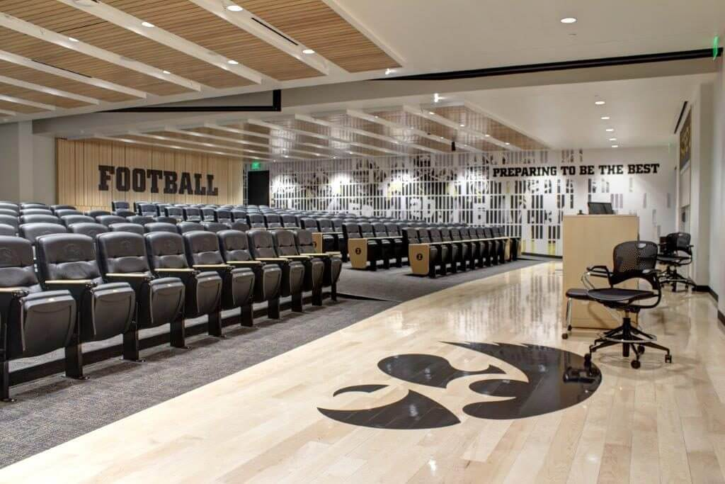 University of Iowa Operations Center Meeting Room - Woodwork by McComas-Lacina Construction