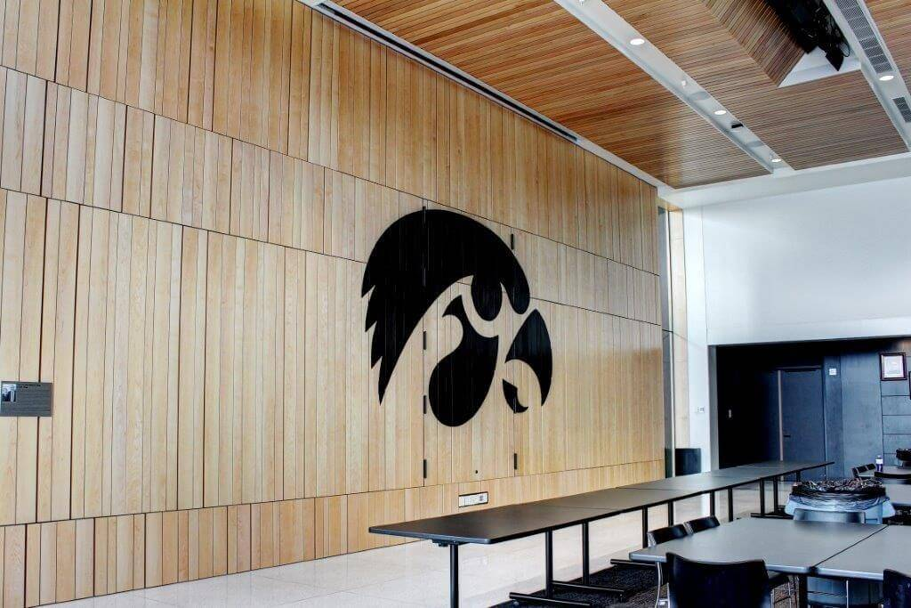 University of Iowa Football Operation Center - Wood Wall Built by McComas Lacina Construction