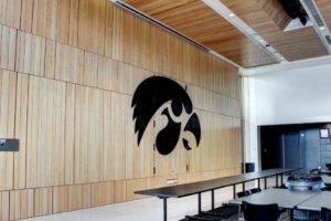University of Iowa Football Operation Center - Wood Wall Built by McComas Lacina Construction