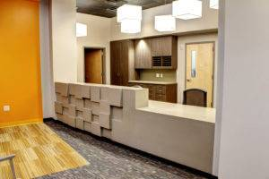 Mercy Pediatric Clinic - Front Desk - Cabinets Installed by McComas Lacina Construction