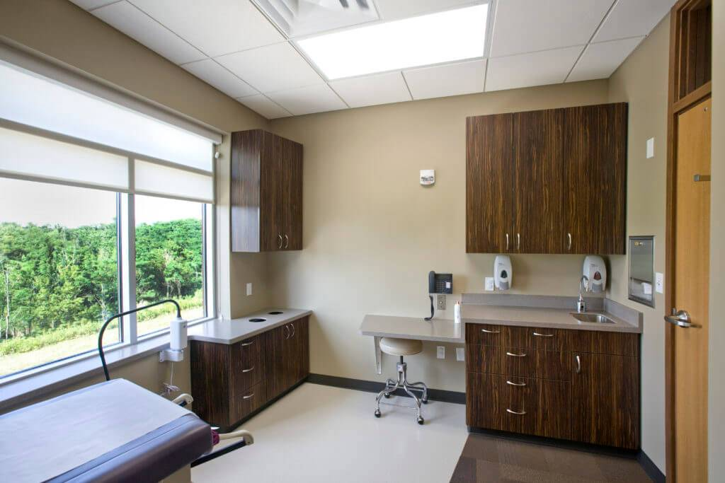 University of Iowa OBGYN Clinic Patient Room - New Cabinets Built by McComas-Lacina Construction