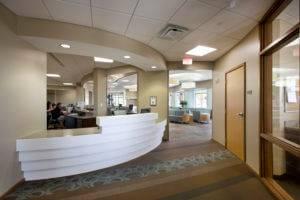University of Iowa OBGYN Clinic Reception Desk